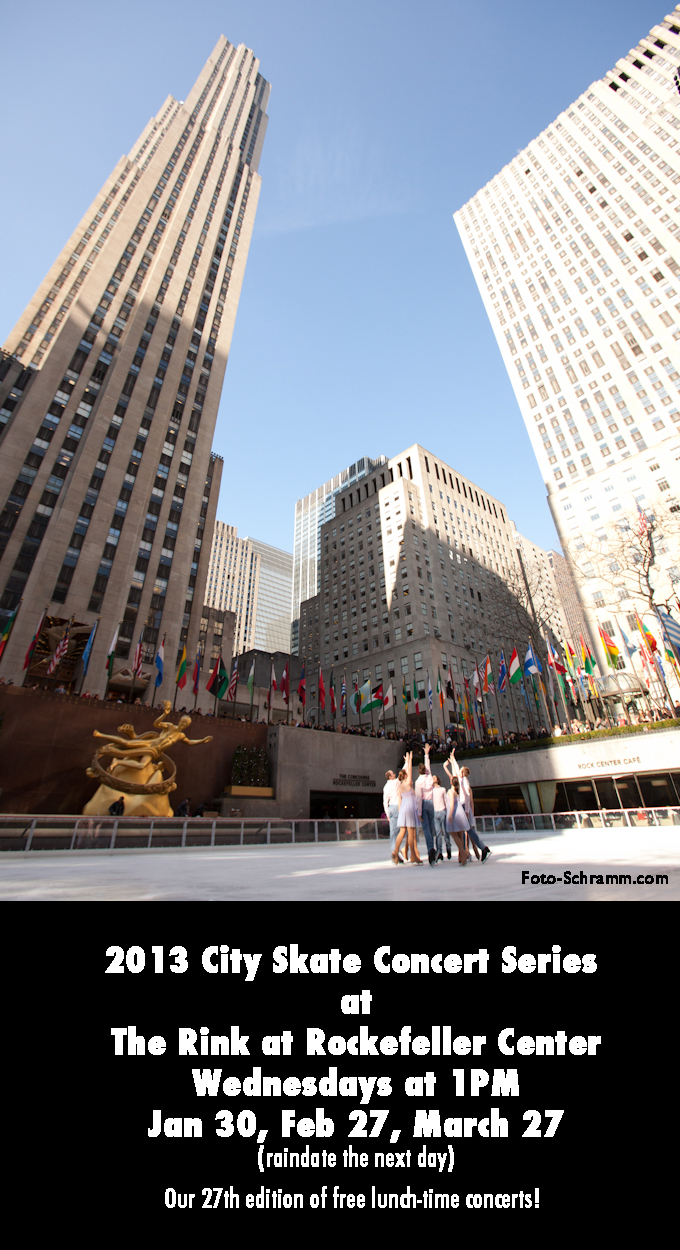 Free lunchtime ice skating performances on Wednesdays at Rockefeller Center!