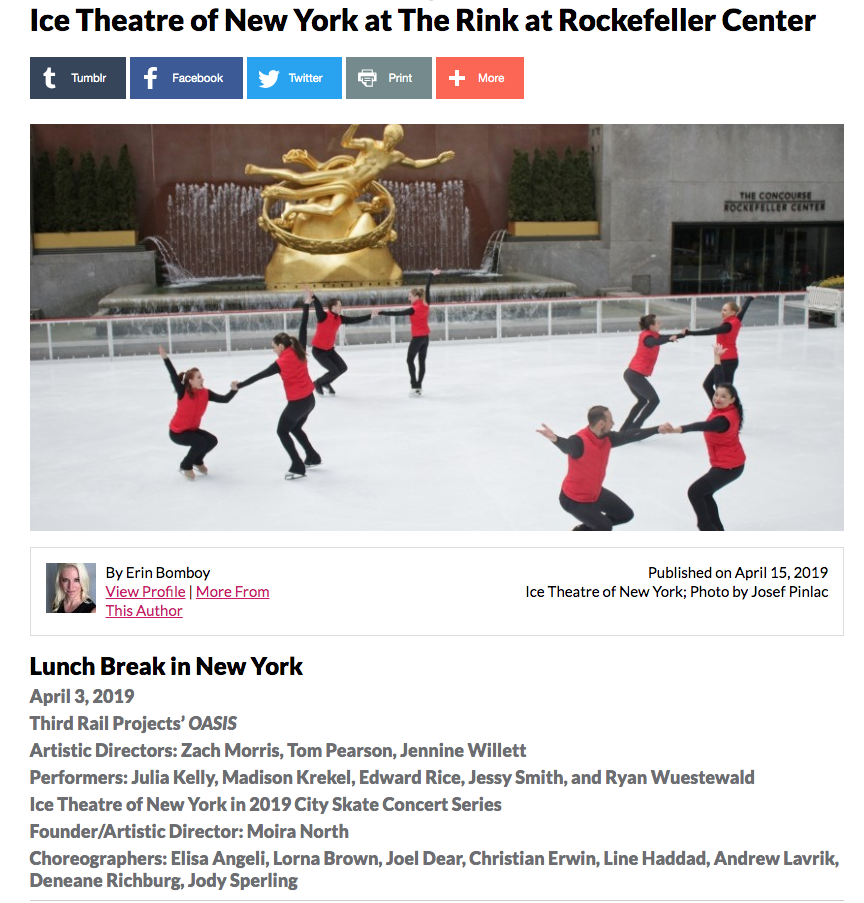 Dance Enthusiast City Skate Concert Review - Ice Theatre of